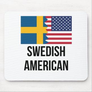 Swedish American Flag Mouse Pad