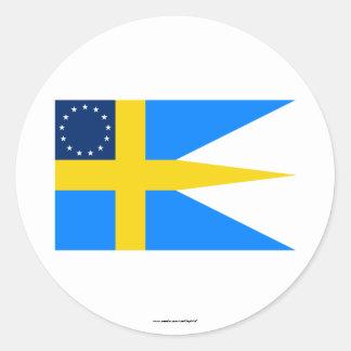 Swedish-American Flag Classic Round Sticker