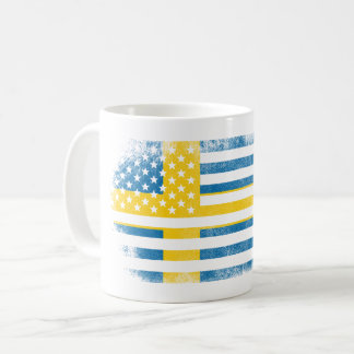 Swedish American Flag   Sweden and USA Design Coffee Mug
