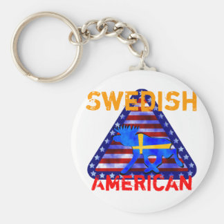 Swedish-American Moose Keychain