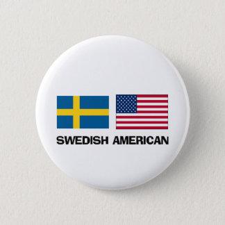 Swedish American Pinback Button