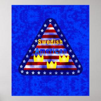 Swedish American Poster