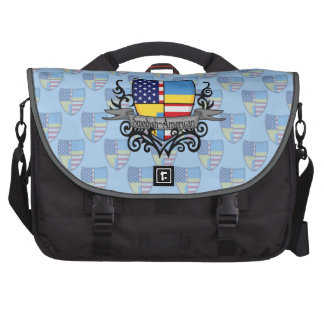 Swedish-American Shield Flag Bags For Laptop