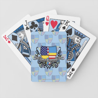 Swedish-American Shield Flag Bicycle Playing Cards