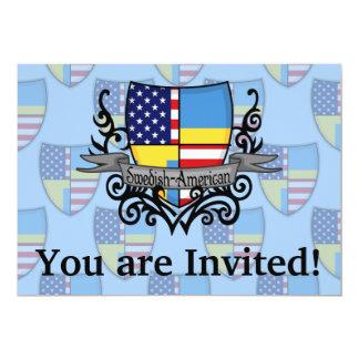 Swedish-American Shield Flag Card