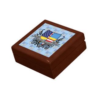 Swedish-American Shield Flag Keepsake Box