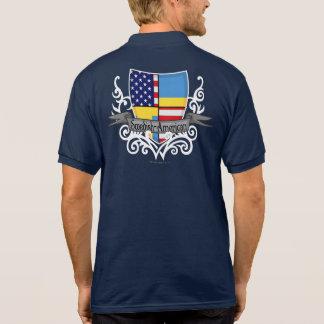Swedish-American Shield Flag Polo Shirts