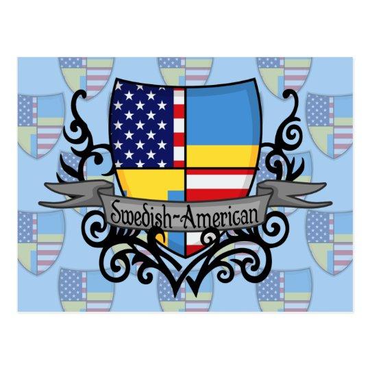 Swedish-American Shield Flag Postcard