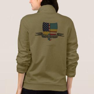 Swedish-American Shield Flag Printed Jackets