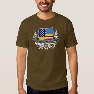 Swedish-American Shield Flag T Shirts