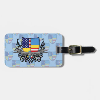 Swedish-American Shield Flag Travel Bag Tags