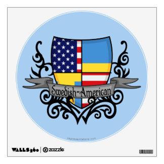 Swedish-American Shield Flag Wall Sticker