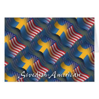 Swedish-American Waving Flag Greeting Card