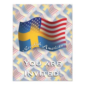 Swedish-American Waving Flag Card