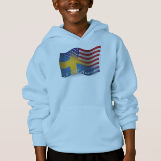Swedish-American Waving Flag Hoodie