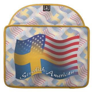 Swedish-American Waving Flag Sleeves For MacBooks