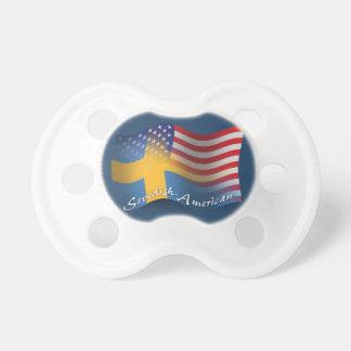 Swedish-American Waving Flag Pacifier