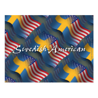 Swedish-American Waving Flag Postcard