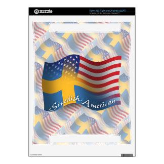 Swedish-American Waving Flag Xbox 360 Console Skins