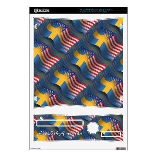 Swedish-American Waving Flag Skins For The Xbox 360 S