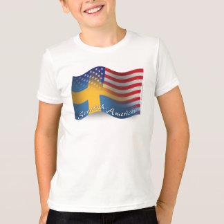 Swedish-American Waving Flag T-Shirt
