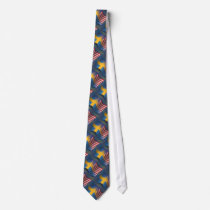 Swedish-American Waving Flag Tie