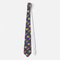 Swedish-American Waving Flag Tie