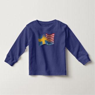 Swedish-American Waving Flag Toddler T-shirt