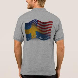 Swedish-American Waving Flag Tshirts
