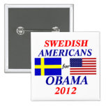 Swedish Americans for  Obama Buttons