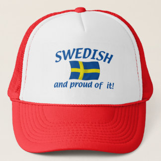 Swedish and Proud Trucker Hat
