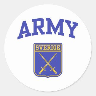 Swedish Army Classic Round Sticker