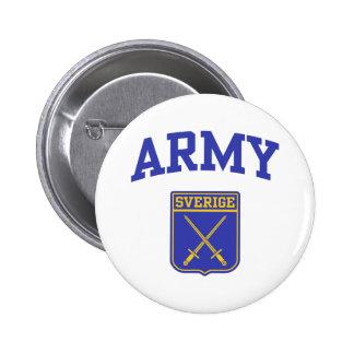 Swedish Army Pinback Button