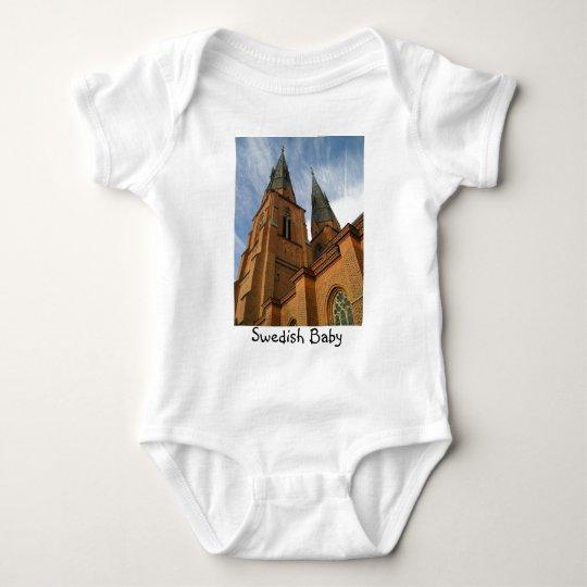 Swedish Baby Uppsala Cathedral Sweden Baby Bodysuit