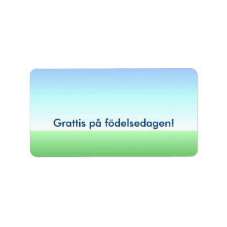 Swedish Birthday Green Blue Label