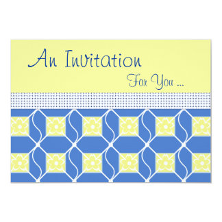 Swedish Blue and Yellow Special Event Card