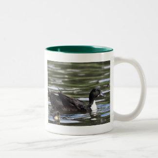 Swedish Blue Duck with Duckling Mug