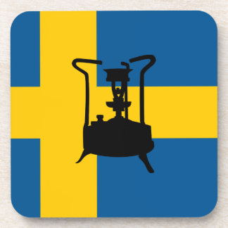 Swedish brass pressure stove beverage coaster