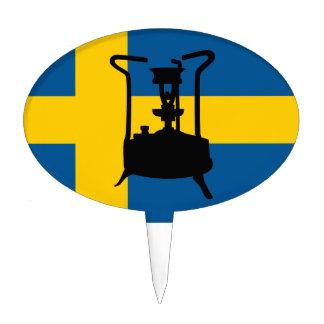 Swedish brass pressure stove cake topper