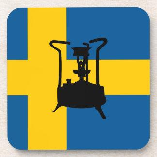 Swedish brass pressure stove coasters