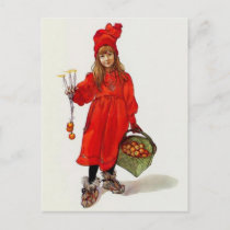 "Swedish ""Brita as Iduna"" by Carl Larsson Holiday Postcard"