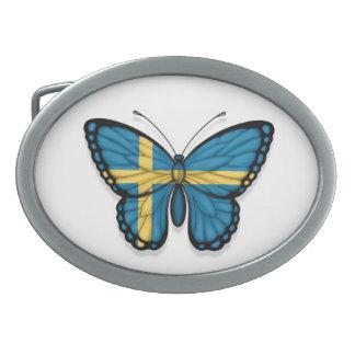 Swedish Butterfly Flag Oval Belt Buckles