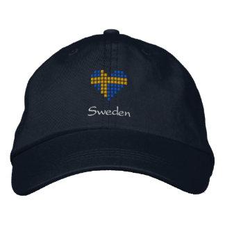 Swedish Cap - Swedish heart Flag Hat Embroidered Hat
