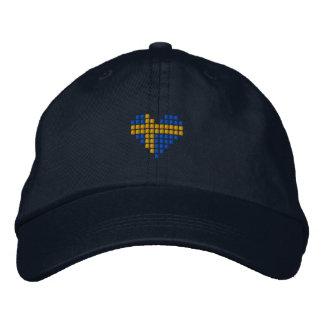 Swedish Cap - Swedish heart Flag Hat Embroidered Baseball Cap
