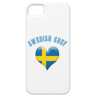 Swedish Chef Heart Shaped Flag of Sweden iPhone SE/5/5s Case