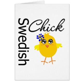 Swedish Chick Card
