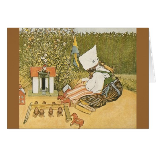 Swedish Child with Toys Card