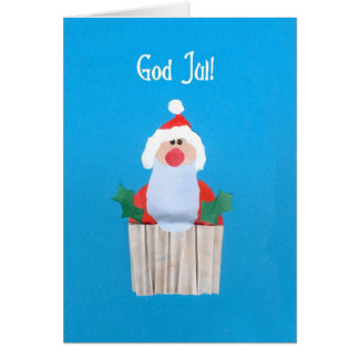 Swedish Christmas 'Cupcake with Santa' Card