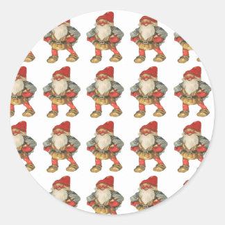 Swedish Christmas Elf Classic Round Sticker