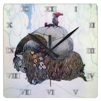 Swedish Christmas Goat Julebukking - Clock